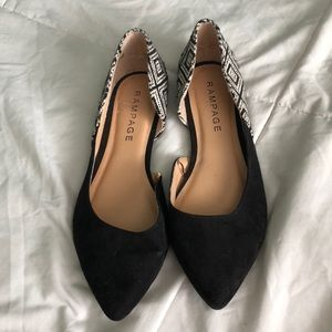 Black flats with design